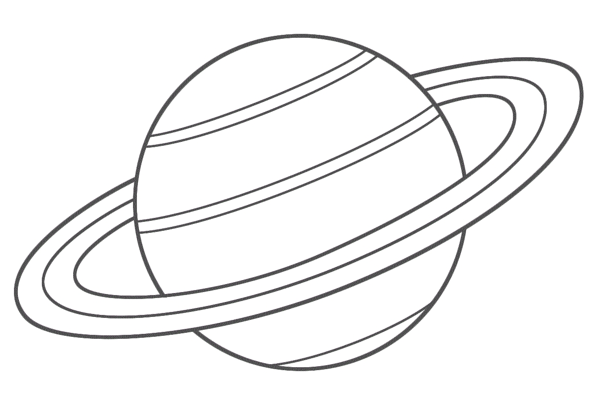 saturn coloring page - 2