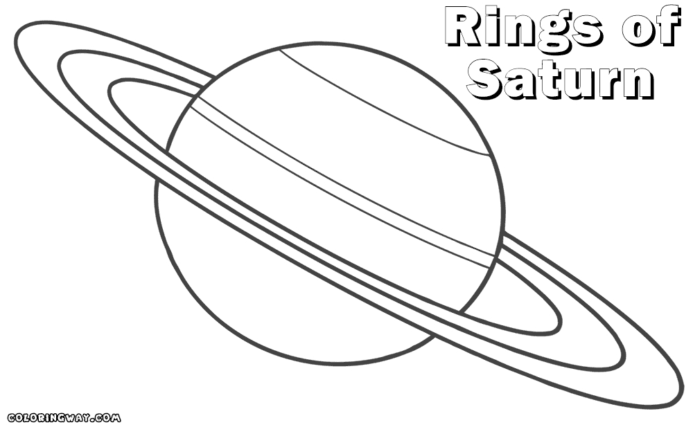 saturn coloring page - planet saturn coloring pages print