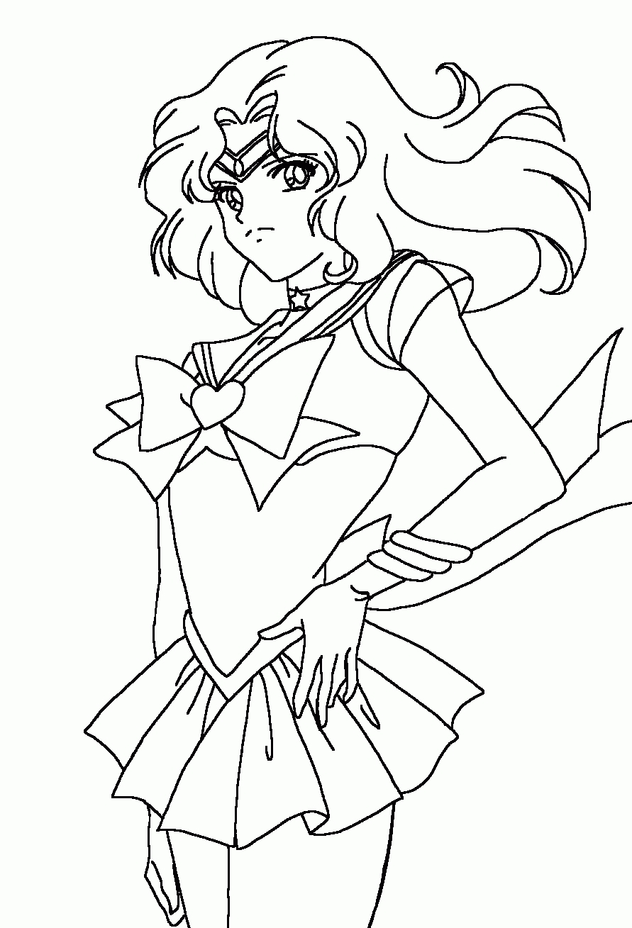 saturn coloring page - sailor saturn coloring page
