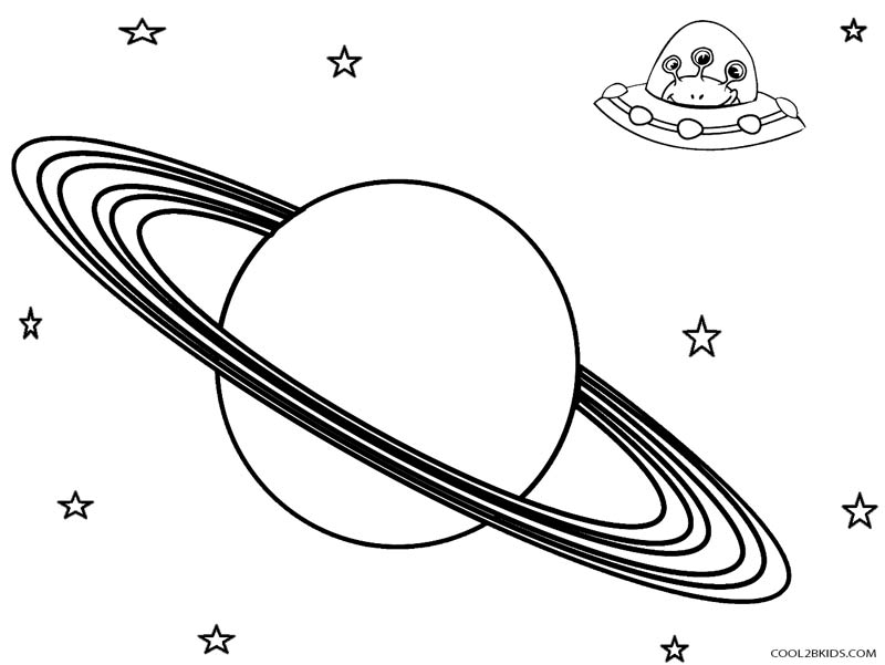 saturn coloring page - coloring pages