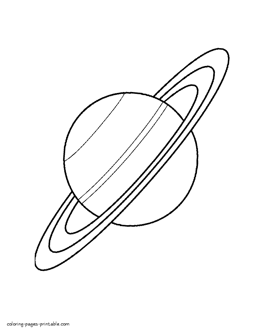 saturn coloring page - saturn coloring pages print