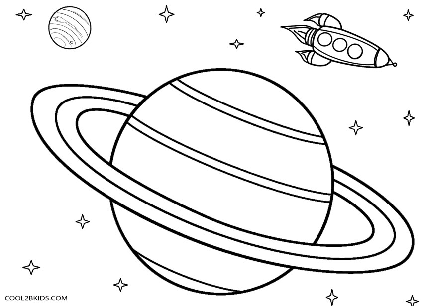 saturn coloring page - saturn drawing sketch templates