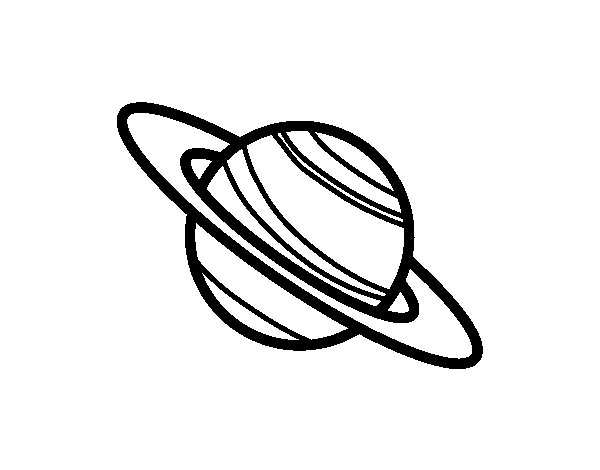 saturn coloring page - saturn planet