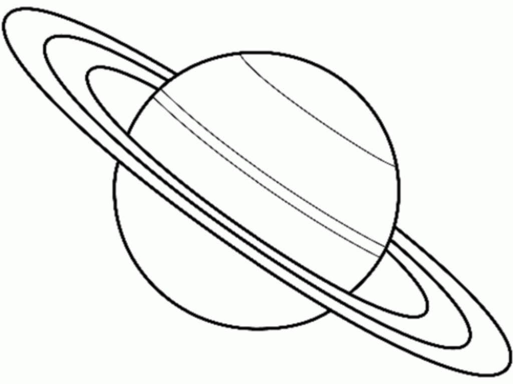 saturn coloring page - saturn solar system coloring sketch templates
