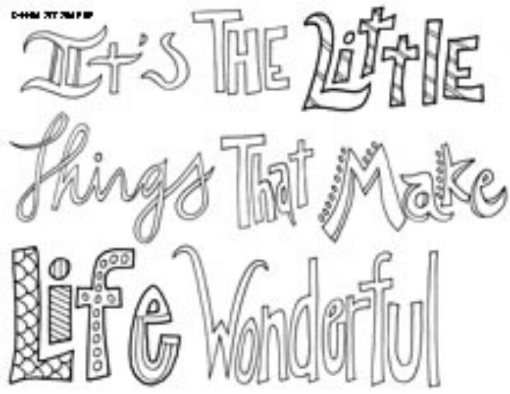 sayings coloring pages - all quotes coloring pages printable