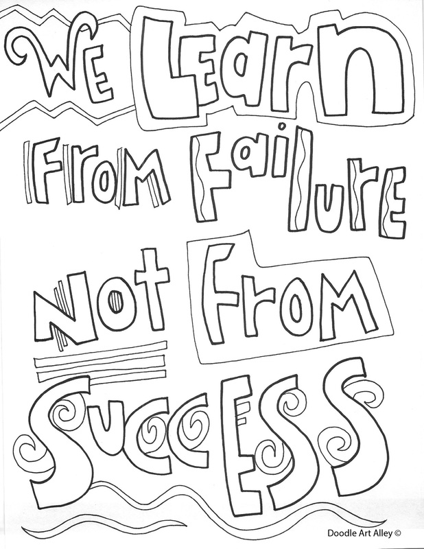 Sayings Coloring Pages   Educational Quotes