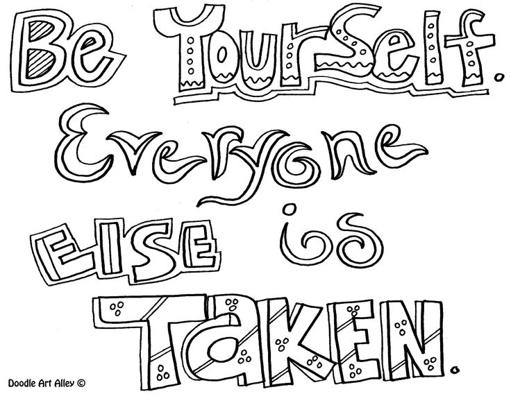 sayings coloring pages - inspirational quotes coloring pages
