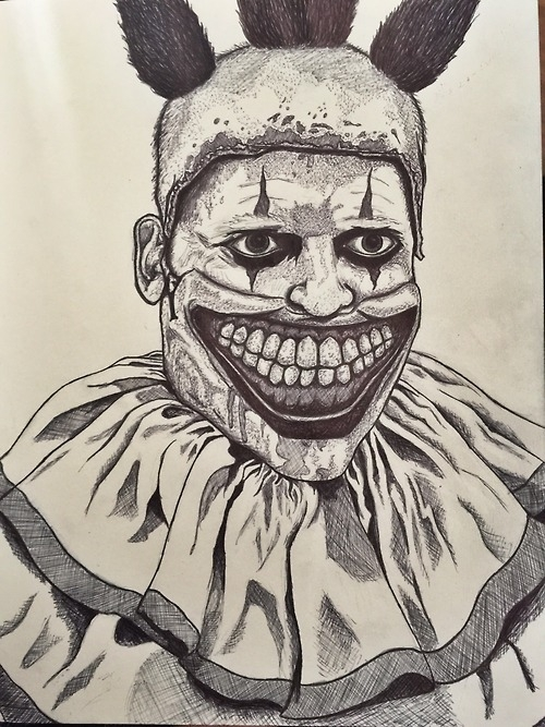 scary clown coloring pages - american horror story artwork