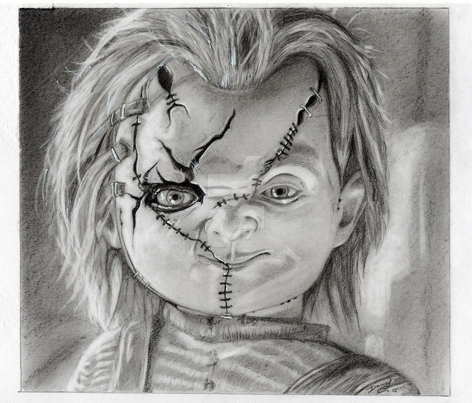 scary clown coloring pages - Chucky The Killer Doll