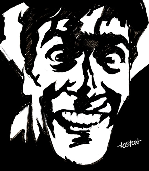 scary clown coloring pages - Evil Dead Ash Sketch