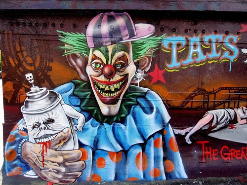 scary clown coloring pages -