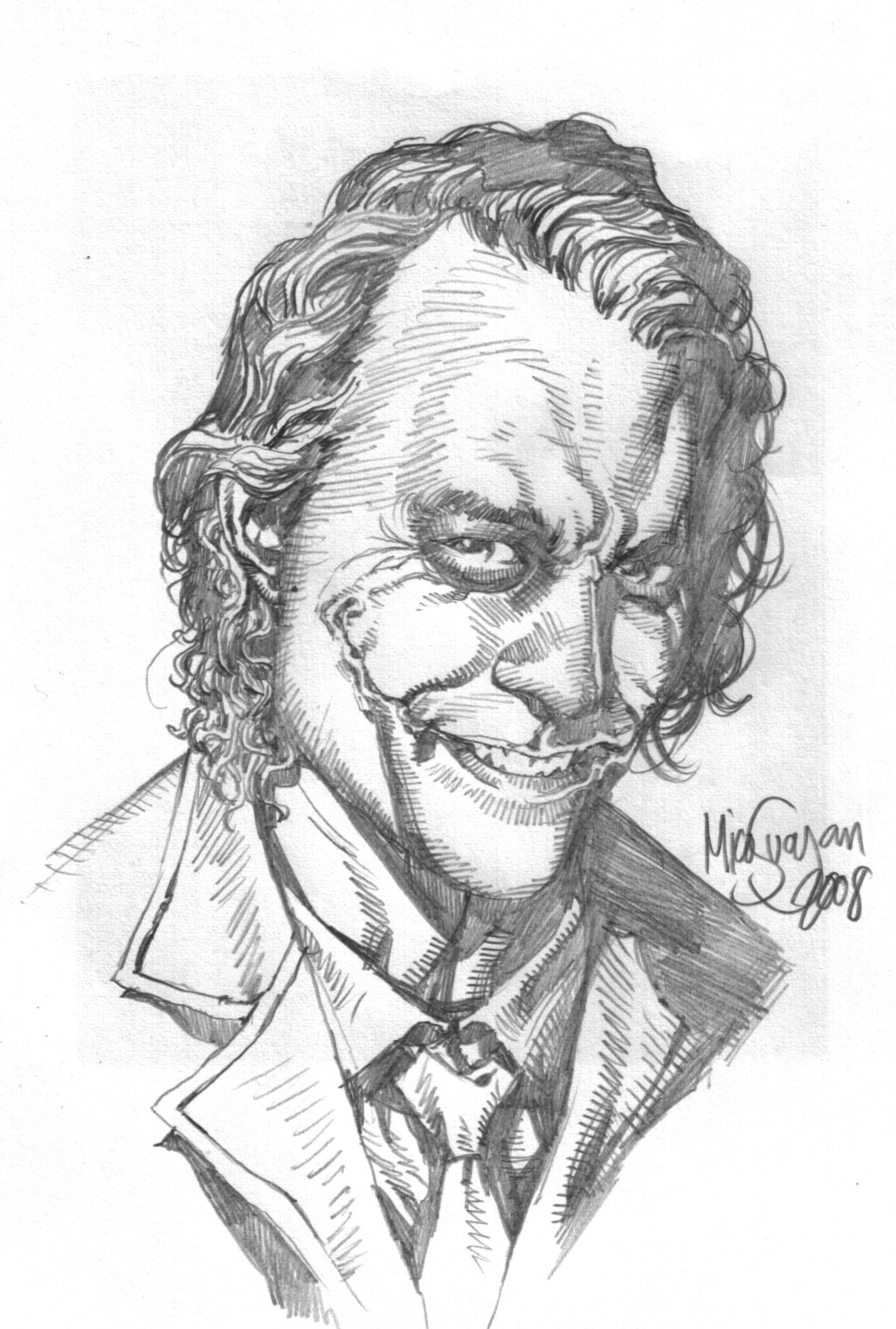 Scary Clown Coloring Pages - Heath Joker Sketch by Micosuayan On Deviantart
