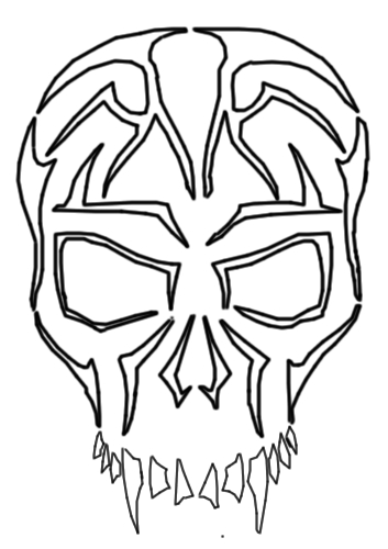 scary clown coloring pages - pictures of skull drawings