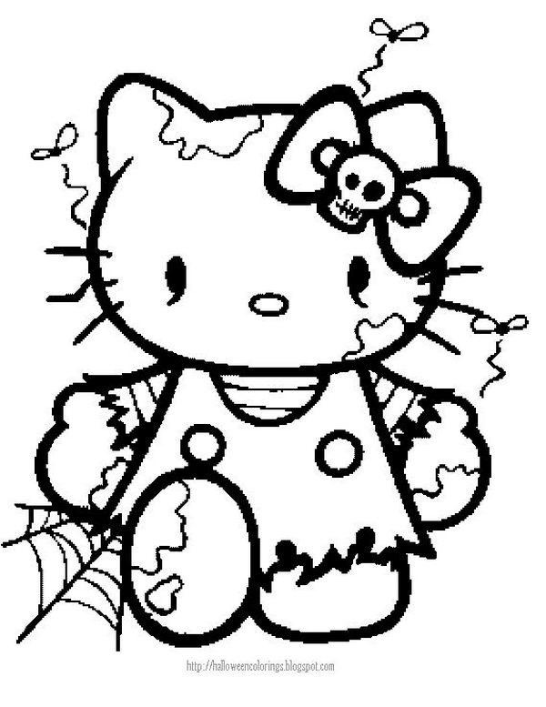 scary coloring pages - fun halloween coloring pages for kids
