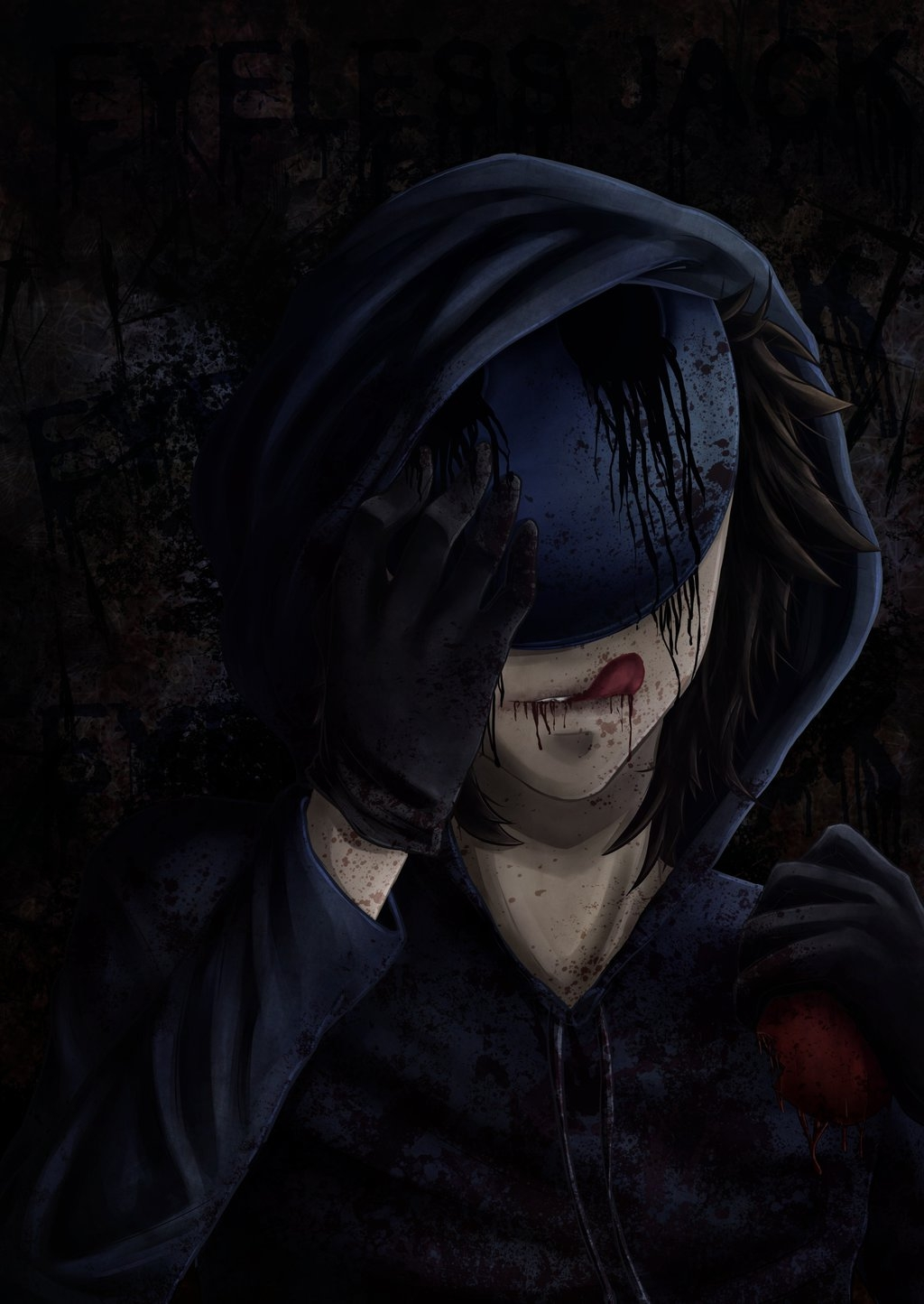 scary coloring pages - Eyeless Jack