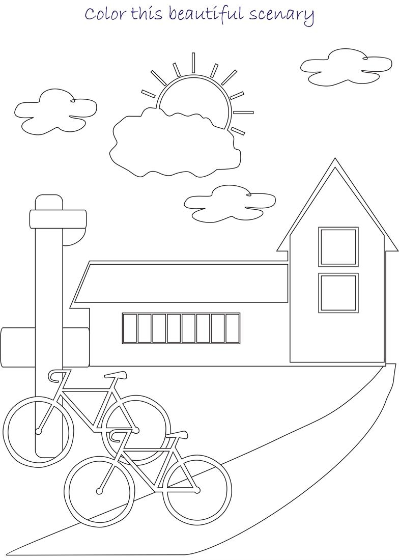 21 Scenery Coloring Pages Compilation | FREE COLORING PAGES - Part 3