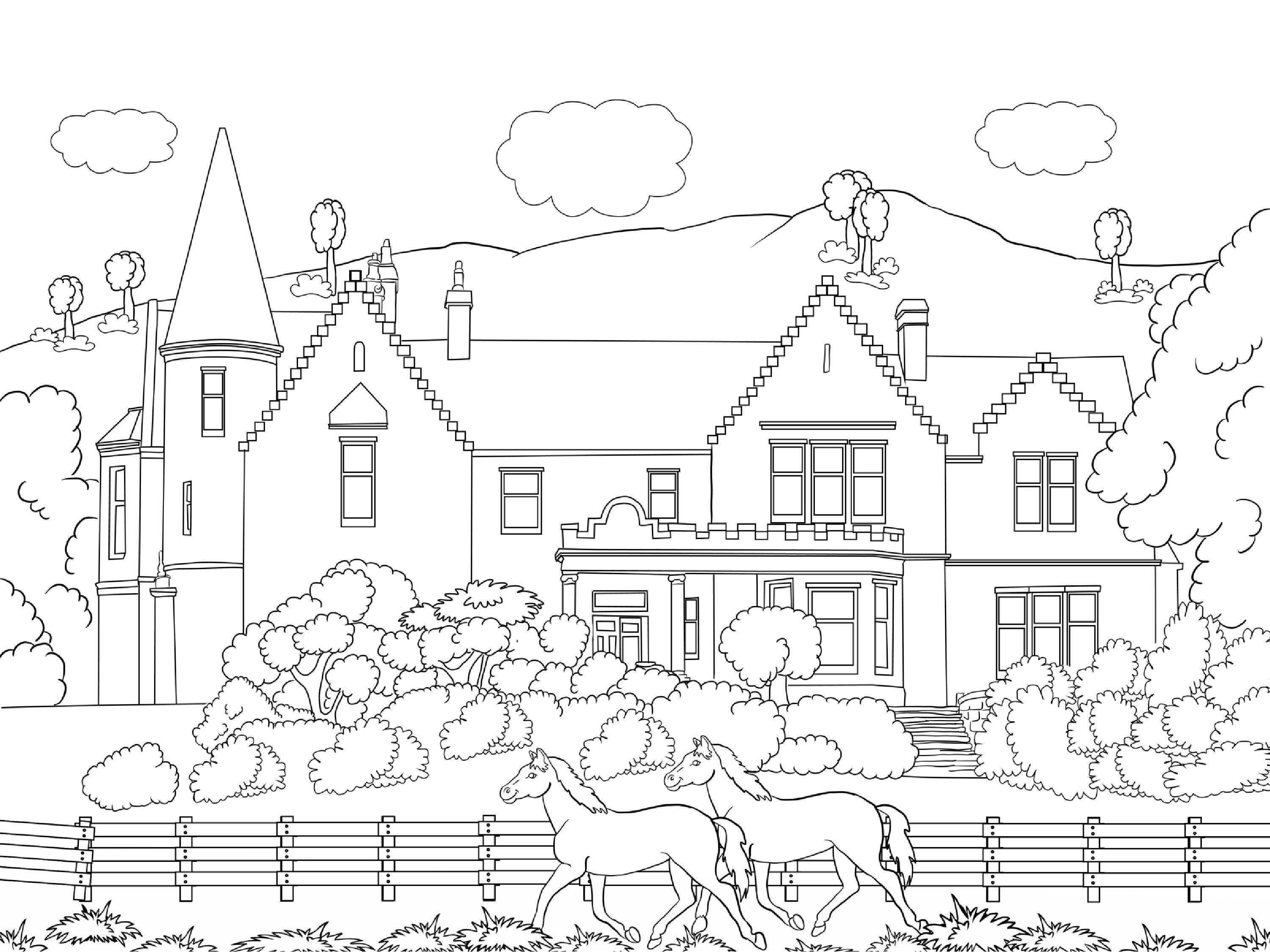 scenery coloring pages - beautiful scenery colouring pages