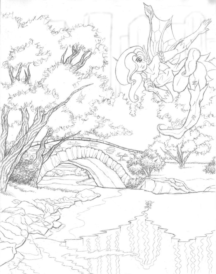 scenery coloring pages -