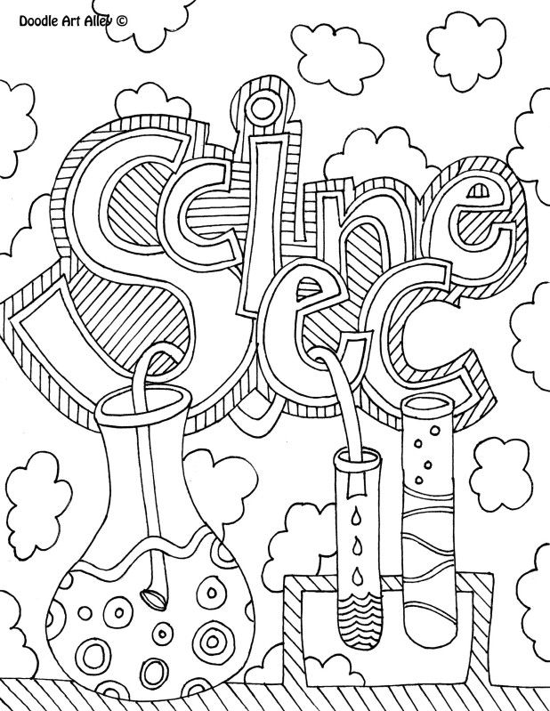 science coloring pages - school book covers