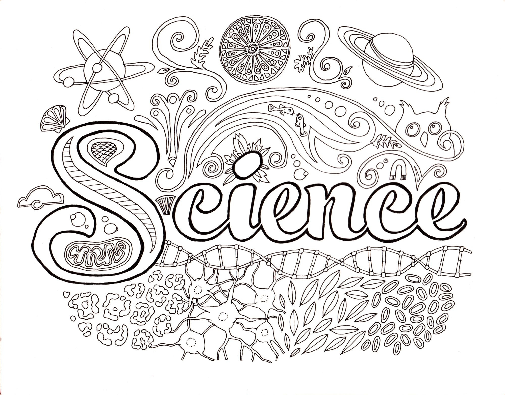 science coloring pages - science lab coloring pages