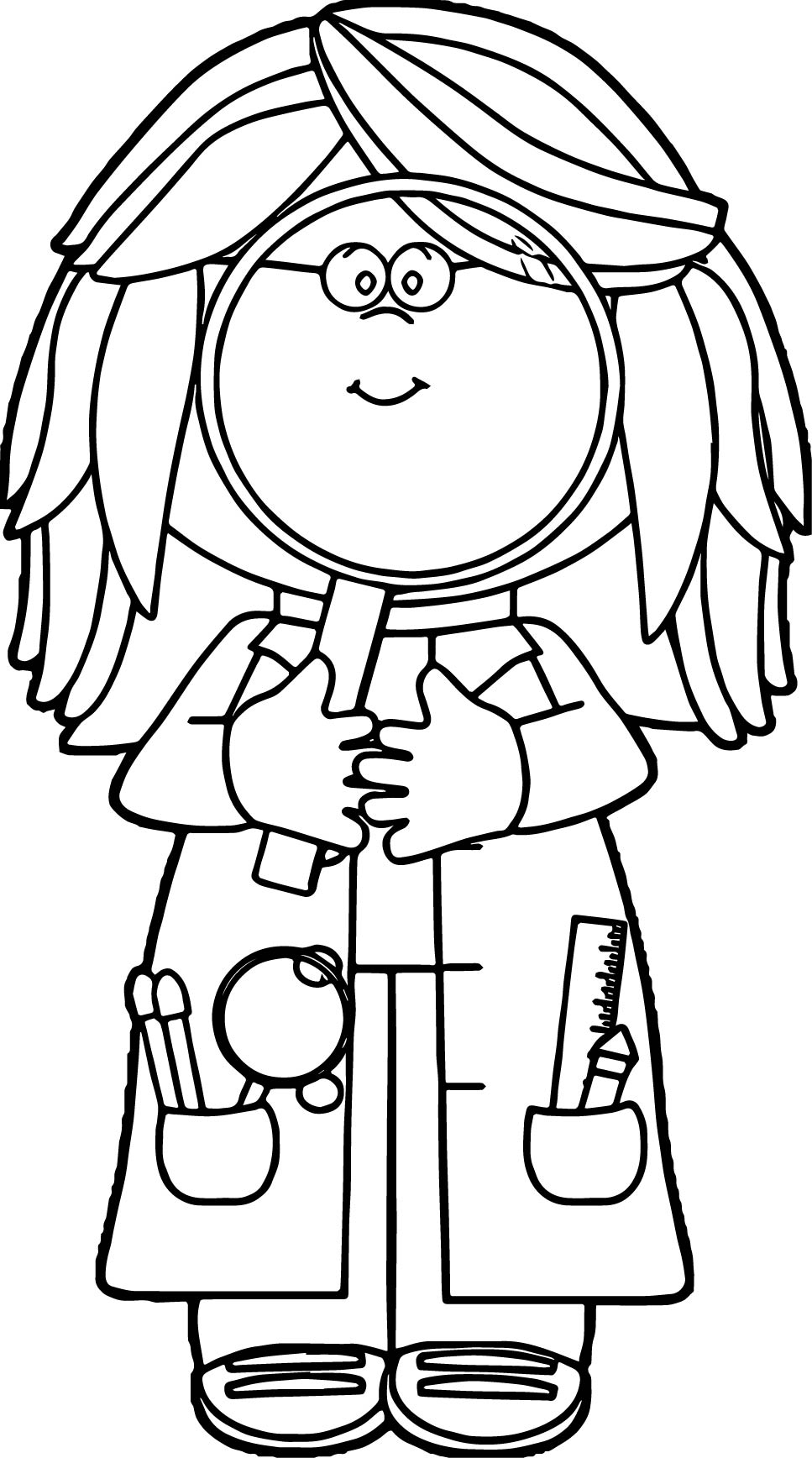 scientist coloring page - scientist coloring pages