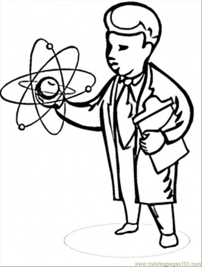 scientist coloring page - scientist