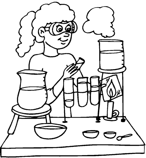 scientist coloring page - q=school scientist