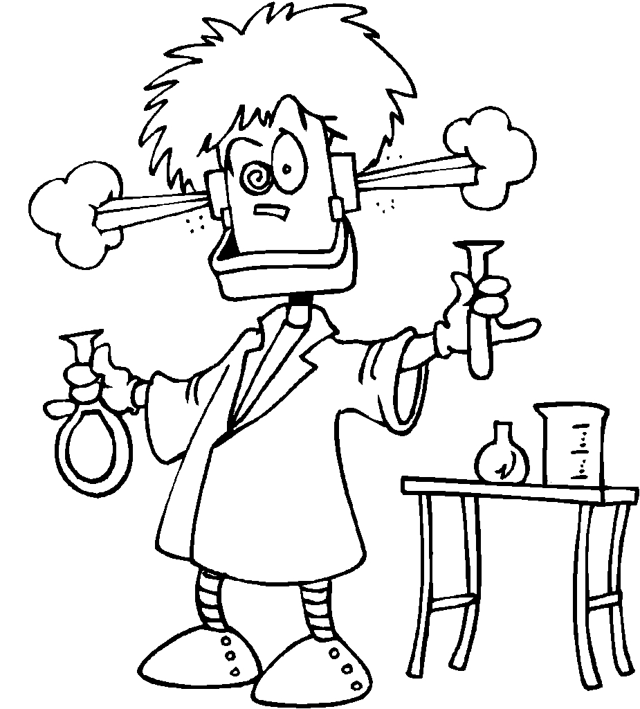 scientist coloring page - science coloring pages