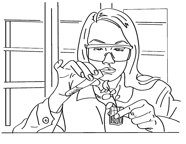 scientist coloring page - science lab coloring pages