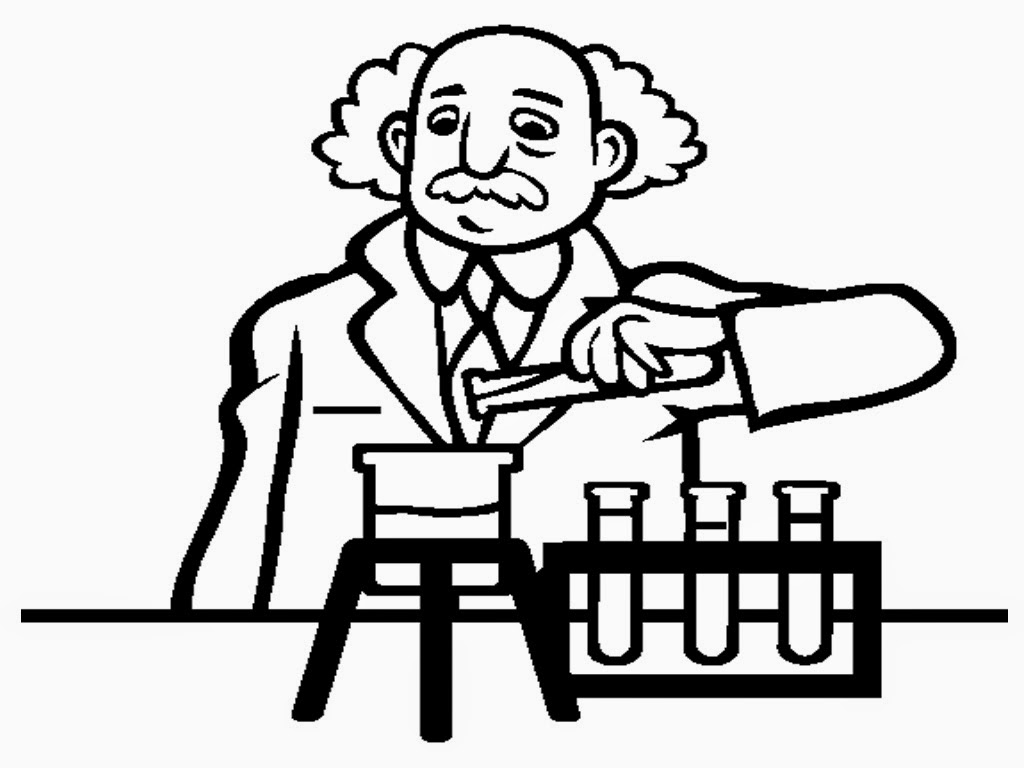 scientist coloring page - scientist coloring pages to print