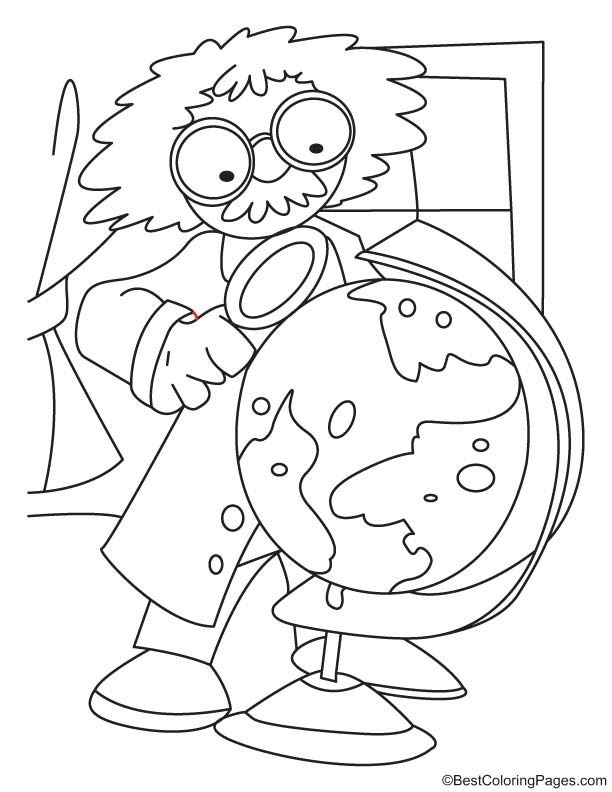 scientist coloring page - scientist coloring sheet sketch templates