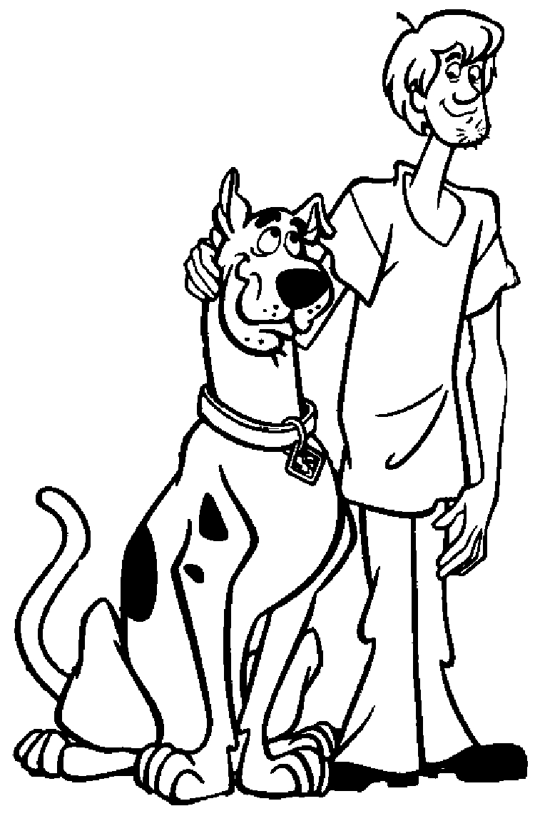 scooby doo coloring pages - scooby doo coloring pages
