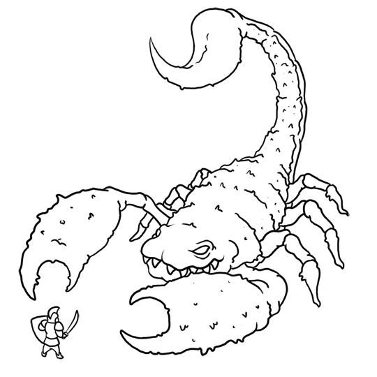 scorpion coloring pages - 8 printable scorpion coloring sheet