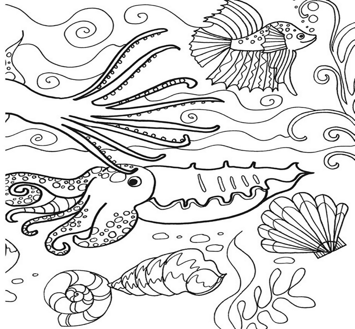 Sea Coloring Pages - Under the Sea Coloring Pages Bestofcoloring
