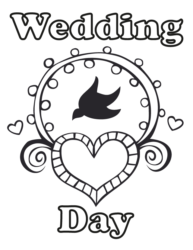 sea creatures coloring pages - wedding day