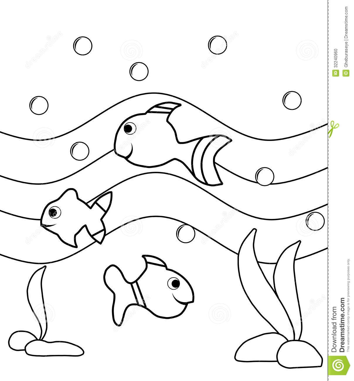 sea life coloring pages - stock photo colorable fishes image representing some nice cartoon version project thought to be colored children image