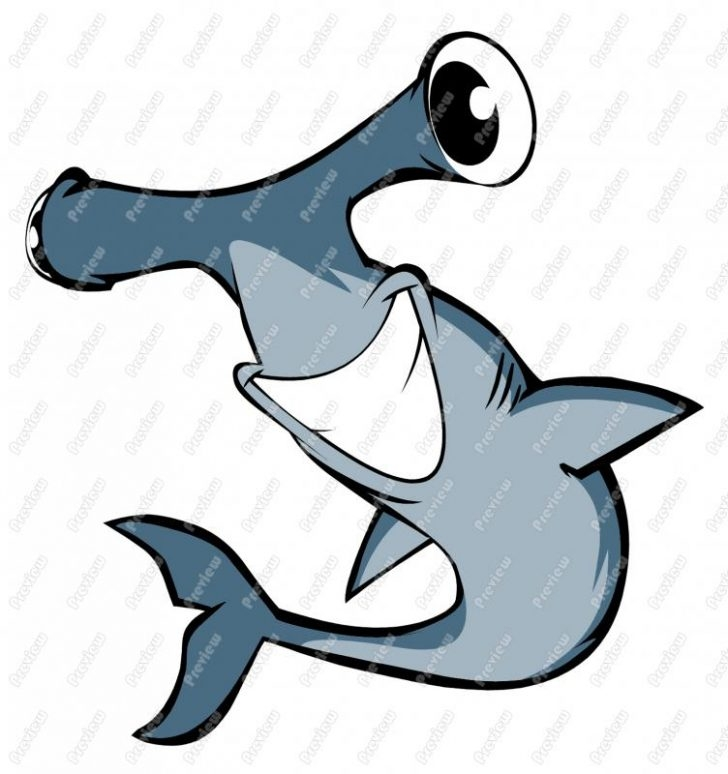 sea life coloring pages - hammerhead shark clipart