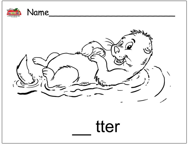 Sea Otter Coloring Page - Baby Otter Coloring Coloring Pages