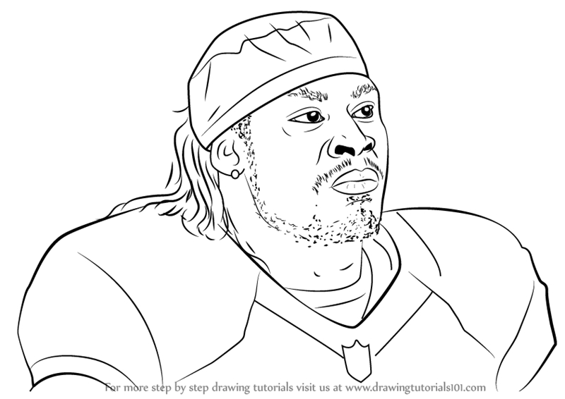 seahawks coloring pages - how to draw marshawn lynch