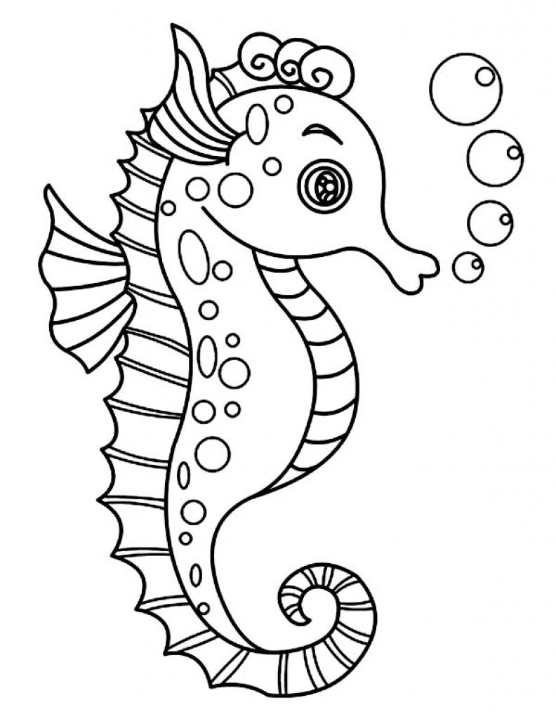 25 Seahorse Coloring Page Printable | FREE COLORING PAGES