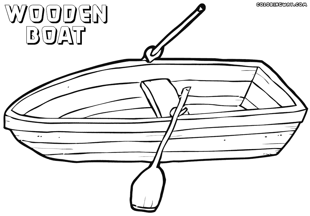 seal coloring pages - boat coloring pages