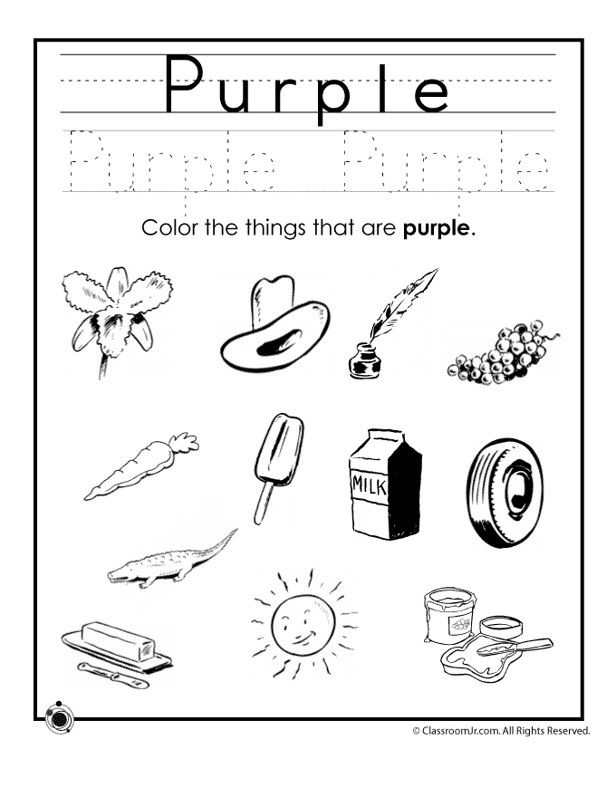 seasons coloring pages - purple colors