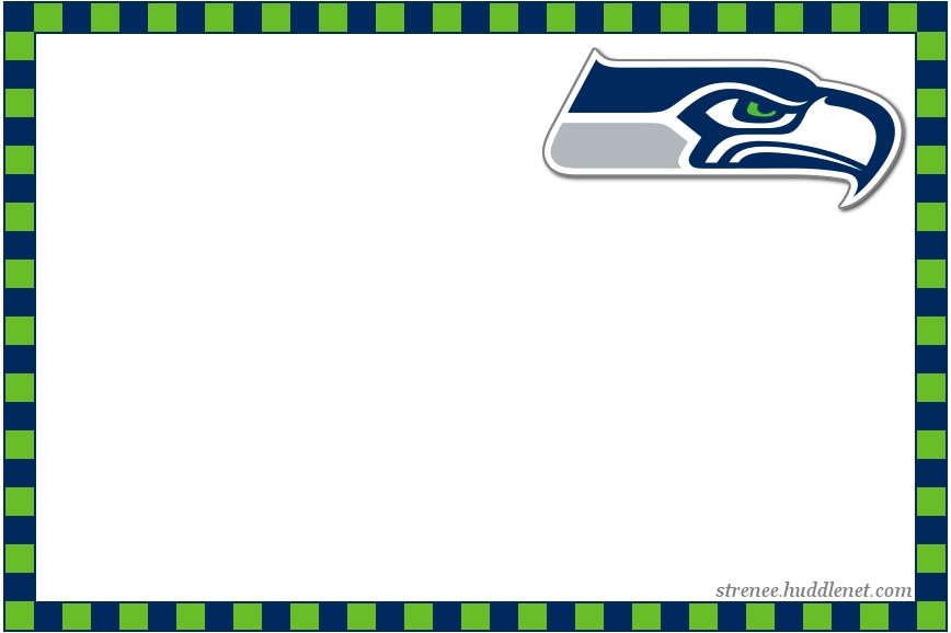 seattle seahawks coloring pages - seattle seahawks recipe cards