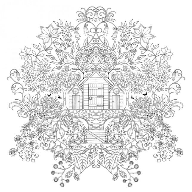 secret garden coloring pages - doodles