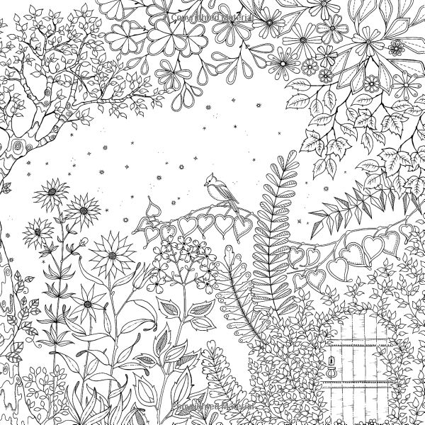Secret Garden Coloring Pages - Free Secret Garden Coloring Pages