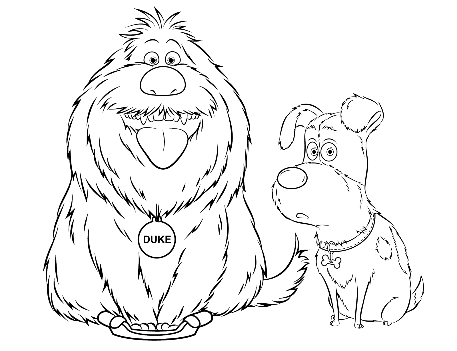 Secret Life Of Pets Coloring Pages - the Secret Life Of Pets Duke and Max the Two Katie Dogs