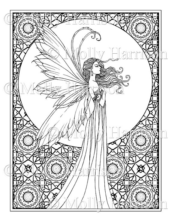 selling finished coloring pages - whispering wind coloring page printable