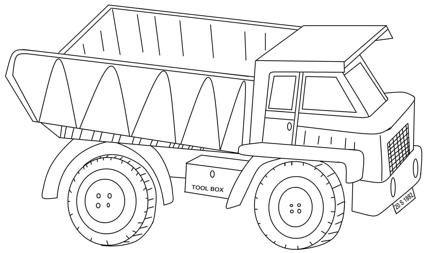 semi truck coloring pages - 40 free printable truck coloring pages