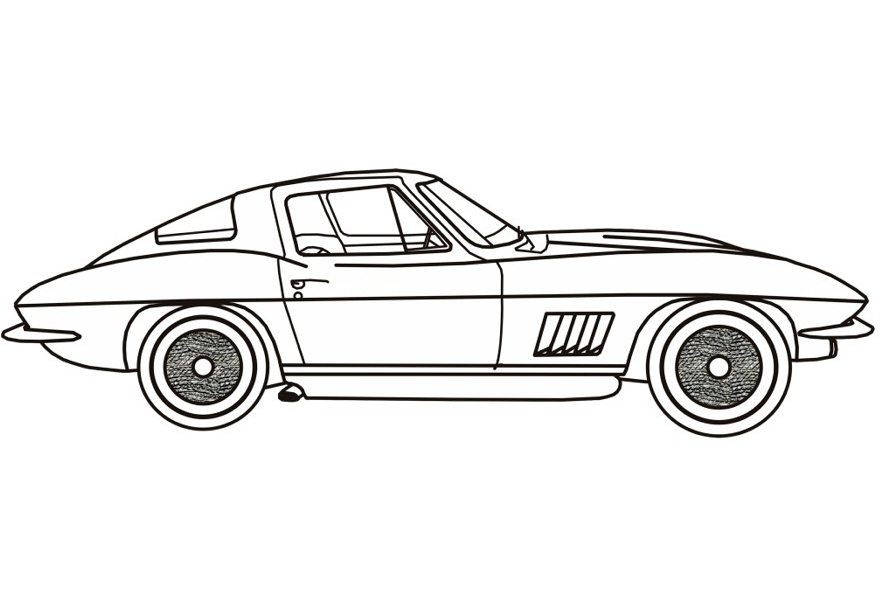 semi truck coloring pages - corvette coloring pages