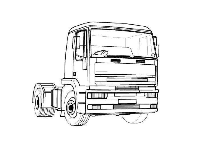 semi truck coloring pages - samochody